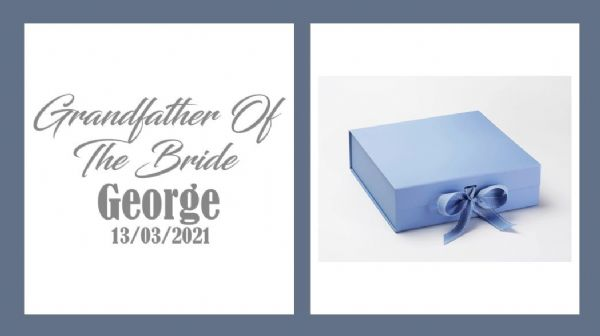 Grandfather Of The Bride Large Luxury Personalised Gift Box